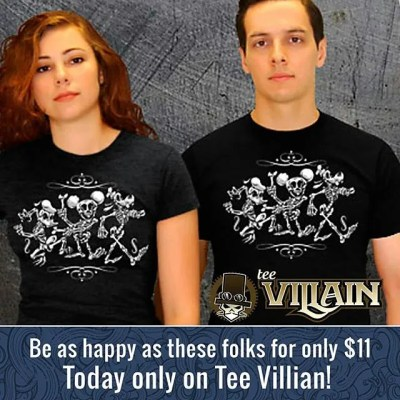 Time is running out to get my Design on Tee Villain! Check it out while you still can!#Teevillain #T-shirt #Disney #parody #skeleton #Donald #Mickey #Goofy # Halloween #illustration New Artwork From Instagram