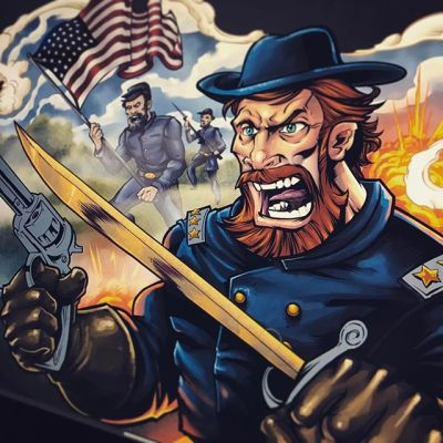 worked on some civil war artwork today ... Union all the way, baby!#art #civilwar #yankee New Artwork From Instagram