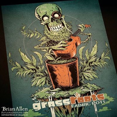 Here's the finished limited color silk-screen t-shirt I designed for Grass Roots - had a lot of fun with this.⠀#art #illustration #tshirt #grass #weed #skull #freelance #FlylandDesigns New Artwork From Instagram