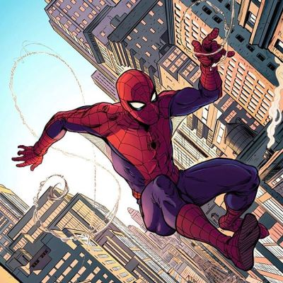 """This awesome #SpiderMan #artwork was created by the talented #JasonPiperberg.  Please go check out his work, it's really inspiring.  Jason was kind enough to recommend my #ClipStudioPaint #brushes and had some nice things to say: """"The inking and texture brushes specifically have opened up new avenues for my work, and were worth every penny. """" - Jason Piperberg New Artwork From Instagram"""