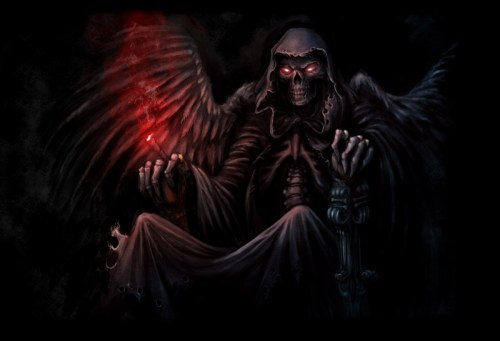 Digital painting of the grim reaper
