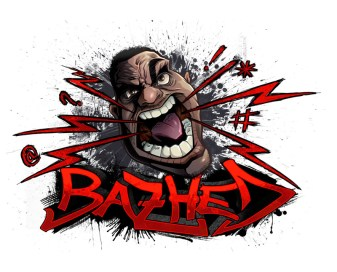 Urban logo design big angry head