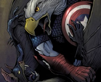 Captain America Vs. Batman comic book art