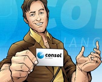 Consol Alliance comic book art created by Brian Allen, Flyland Designs