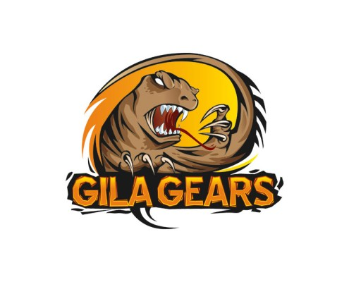 Logo design of a gila monster