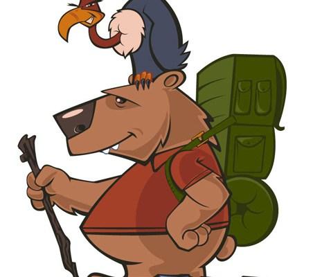 Hiker Bear character design by Brian Allen