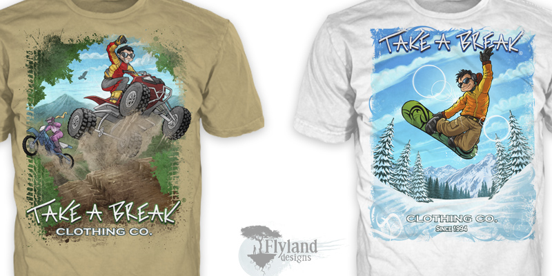 2618d53300296 Take A Break Clothing Company - Flyland Designs, Freelance ...