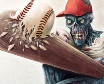Zombie Baseball Player digital painting graphic