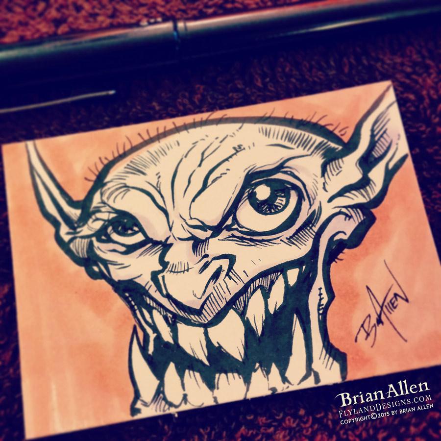 Smiley Goblin ink Sketch