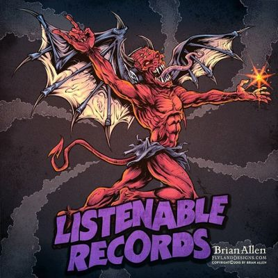 I created this #albumcover #illustration for #ListenableRecords- a tribute to the iconic #BlackSabbath cover⠀I tried to pump as much of my style into it, while still keeping the pose close enough that fans of the early Black Sabbath material would get it.  We put some headphones on the demon for fun.  Always a pleasure working with these guys!⠀#mangastudio #photoshop #illustration #tshirt #art #instaart #instaartist #picoftheday #igdaily #followme