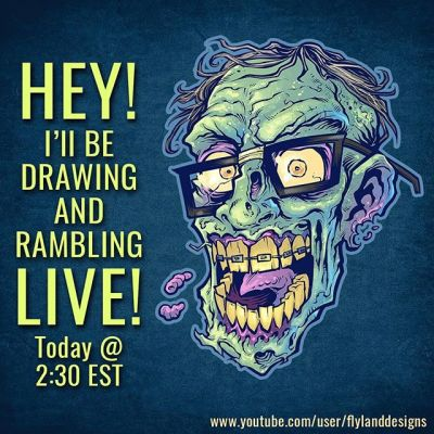 Hey guys, I'm going to be drawing and answering questions live today 2:30EST - see you there! #ClipStudioPaint