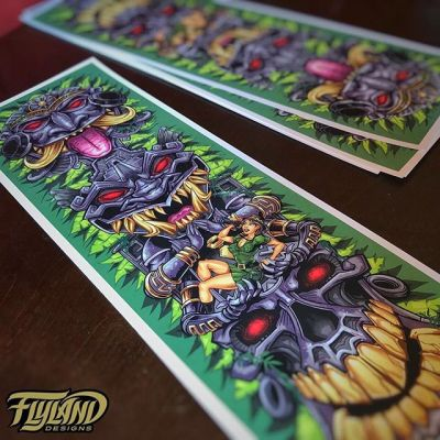 Thanks again for the tremendous support on this - sending out another batch of signed Aztec tiki totem prints. I put everything I had into this one - onto the next! Still have a couple more if you want one http://www.flylanddesigns.com/shop/  #aztecart #cannabisart #tikiart #beachart #artprint
