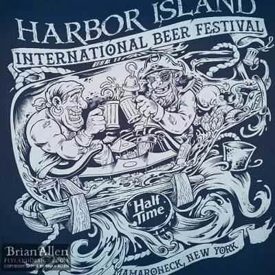 My friend's at #HalfTimeBrewing Company recently hired me to illustrate this detailed single-color t-shirt design for a huge #beer festival they were attending featuring two drunk #pirates floating in a growler bottle on the open sea.  The shirt was a huge hit, and we were all really happy with how it turned out.Illustrated by Brian Allen, https://www.flylanddesigns.com/#pirates #festival #silkscreen #mangastudio #photoshop #illustration #tshirt #art #instaart #instaartist #picoftheday #igdaily #followme