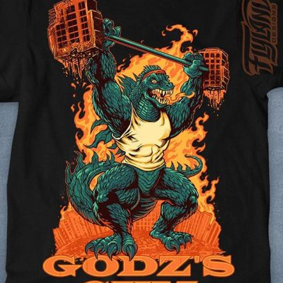 This is so cool - the folks at Tee Fury are featuring my Godz Gym Godzilla weightlifter parody t-shirt all day today for one day only FOR ONLY $12!! So stoked, because it could mean a lot of exposure for this design, one of my favorites. Grab it at http://teefury.com/#fitness #fitspo #gainz #getstrong #weightraining #shredding #art #originalartwork #mangastudio #clipstudiopaint #illustration #tshirtdesign #tshirtart #hireanillustrator #freelanceartist #wacomcintiq