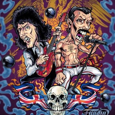 This Queen illustration I created for an official Queen pinball machine was for something big that ALMOST happened, but ultimately fell apart. When you've been freelancing for as long as I have, you start to accumulate a big pile of ALMOSTs. It's best not to let those weigh you down - just keep going and making art every day. Focus on the projects you DO get, and don't let the failures overshadow your successes!#queenart #queenband #pinballart #pinballartwork #pinball #pinballmachine #playfield #backglass