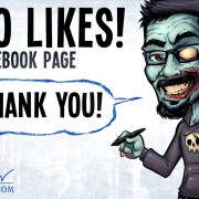 Zombie Caricature of Brian Allen celebrating 4,000 Facebook Likes