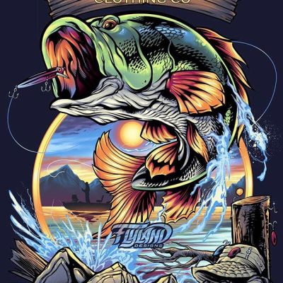 Sportsmen friends: would you wear this? This is another apparel design I illustrated for @TakeABreakClothing  that I was really happy with. I wanted to steer away from the fully-rendered painterly style that most fishing apparel artists use and instead make it line-art heavy to give it more contrast. That's challenging, because things can start to look cartoonish real quick if you're not careful.#fishingart #outdoorsart #sportsmen#art #originalartwork #mangastudio #clipstudiopaint #illustration #tshirtdesign #tshirtart #hireanillustrator #freelanceartist #wacomcintiq#appareldesign #tshirtdesign #tshirtartist #screenprintart #dtg