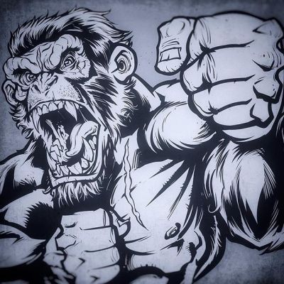 WIP gorilla inks for a fun client#wip #inks #gorilla #art #originalartwork #mangastudio #clipstudiopaint #illustration #hireanillustrator #freelanceartist #wacomcintiq