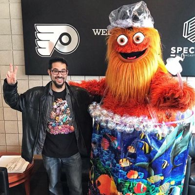 Finally got to meet Gritty this weekend! So surreal to meet your drawing in real life!! Special thanks to the Philadelphia Flyers for treating my family to a great experience at the game! My kids even made it on the Jumbotron! I'm so fortunate and grateful to be a part of something so big!!!....#philadelphiaflyers @grittynhl #nhl #hockey #mascot #characterdesign #characterdesigner #conceptartist #mascotdesign #characterart