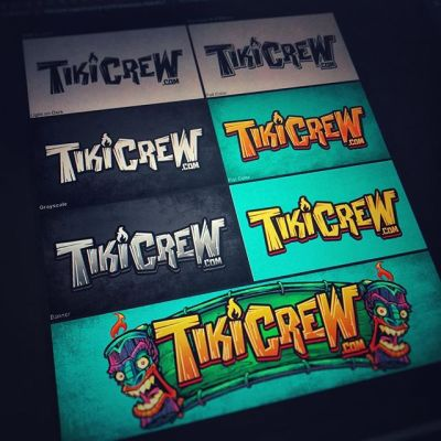 Finally getting around to creating my own brand of beach-themed merch! Just finished up the TikiCrew logo! I love that Photoshop now supports ArtBoards, it makes outputting to different versions of a file so easy.#tikiart #tikibar #beachart #tikitotem #surfart #tikiartist #logodesign‍ http://tikicrew.com/