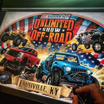 illustration I created for my friends at Unlimited Off-Road, a huge Jeep and offroad expo in Louisville Kentucky - There are so many artists that just kill it at painting realistic cars and trucks, that I decided to take a messier, line-art driven approach. Made a really sharp t-shirt and poster!#jeepart #offroad #unlimitedoffroadexpo#art #originalartwork #mangastudio #clipstudiopaint #illustration #tshirtdesign #tshirtart #hireanillustrator #freelanceartist #wacomcintiq