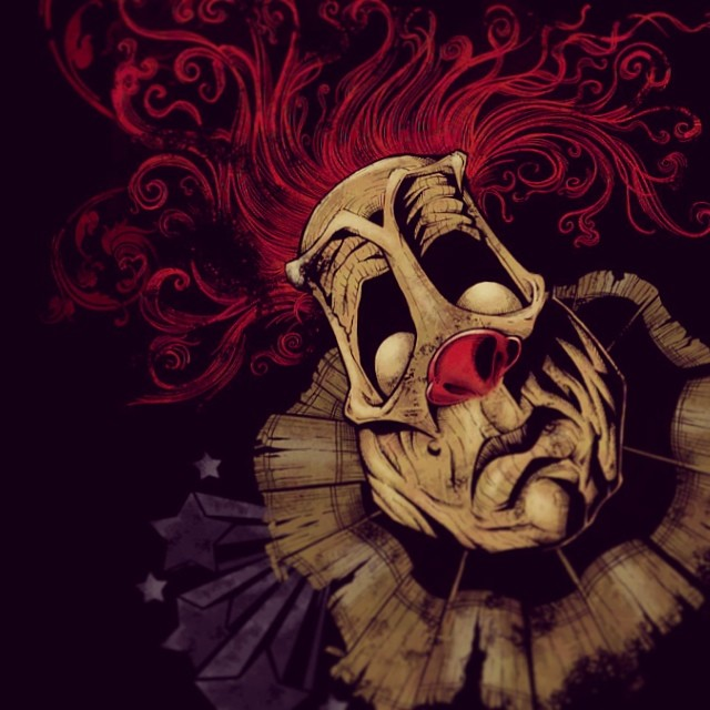 This t-shirt illustration of an evil clown was done for my own personal enjoyment.