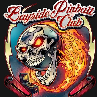 My friends at Bayside Pinball Club on the other side of the world comissioned me to create this t-shirt design for their new club shirts. These guys were a pleasure to work with! If your club needs a logo or patch, please hit me up.#baysidepinballclub #pinballart #pinballartwork #pinball #pinballmachine #playfield #pinballlogo