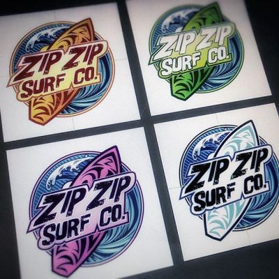 Playing around with colors for the logo I created for the surf company Zip Zip Surf Co. What color works best? I like the orange and blue myself.#art #logodesign #mangastudio #clipstudiopaint #illustration #beachart #surfart #hireanillustrator #freelanceartist #wacomcintiq