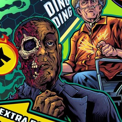 Here are some detail shots of the finished Breaking Bad pinball playfield I created for a private collector - so hard to crop this massive thing into little social media squares. This thing was a massive undertaking - so cool to interpret the characters from my favorite show.#breakingbadart #pinballart #pinballartwork #pinball #pinballmachine #playfield #backglass