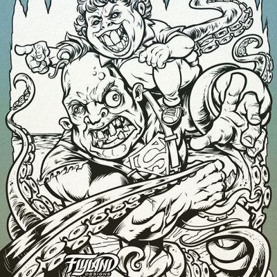 Hey you guuuuuuyssss!!! I'm Redrawing my Goonies Sloth and Chunk tribute - this was one of my favorite pieces from years ago, but it always printed too dark and had some cringy anatomy mistakes. So I figured it would be fun to revisit it and see what I could improve on.....#goonies #art #inks #blackandwhiteart #mangastudio #clipstudiopaint #illustration #hireanillustrator #wacomcintiq