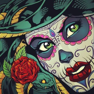 Finished illustration I created of Sugar Skull Medusas (Medusi?) for a boat wrap. Jesse at Diamond Wraps did an excellent job printing this out and wrapping it.#medusaart #medusa #vinylwraps #vinylwrap #vinylart #wrapart #wrapartist #vehiclewraps