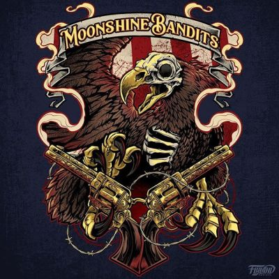 Moonshine Bandits hired me to create this graphic for them last year (for a t-shirt, and even their tour bus!), and they are graciously allowing me to sell 100 Limited edition art prints - signed and numbered by the artist (me!). If you haven't heard the Moonshine Bandits, go check them out - they have a really unique sound and have toured with a lot of the greats. Always a pleasure to work with these guys, they treat me well!Grab the prints from my shop if interested.#moonshinebandits #countryrock #eagleart #patrioticart #guns #secondammendmentart https://www.flylanddesigns.com/shop/