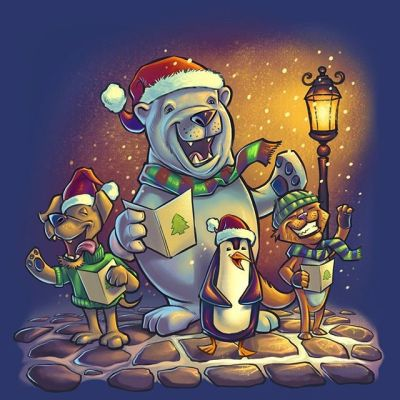 I dug this Christmas Caroling image from years and years ago I painted for a client that I always like the look of - wanted to share with you all. Merry Christmas!