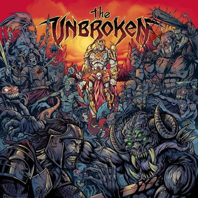 Album cover I created last year for The Unbroken - the direction was to draw a lone warrior untouched by the surrounding hordes of hellish creatures and monsters.#demonart #darkart #theunbroken #albumcover #albumart #merchdesign #musicart #albumdesign #heavymetal #rockmusic