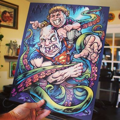 Heeeey Yoooooou Guyyyys! I'm restocking my Sloth Loves Chunk art prints in my shop. Thanks so much for your support on this! It might be my most popular art print.Signed by the Artist.Printed on high-quality cover stock matte paper with archival inks.#goonies #gooniesfanart #gooniesart 80sart #artprints #artprintsforsale #artposter #posterart #flylanddesigns #artist #instaartist