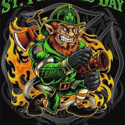 Every year, I create a new Fire-Fighter leprechaun graphic for fire-fighters to use for St. Patrick's day - here's my design for 2020. Let me know if you'd like to license this for your station.#firefighterlife #challengecoin #patchdesign #firefighterpatch #emslife #stpattys #stpatricksday #leprechaun