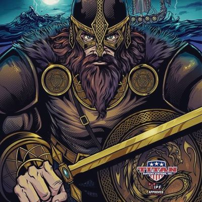 Client Work •Viking illustration I created last year for a line of wrestling singlets for Titan Fitness. I made a celtic pattern brush and scale brush in Clip Studio Paint which helped those tedious details tremendously!#art #viking #vikingart #mangastudio #clipstudiopaint #illustration #wrestlingsinglet #freelanceartist #wacomcintiq
