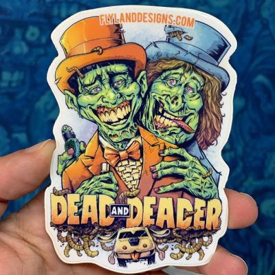 Just ordered new Dead and Deader stickers for my shop! Four inch hiqh quality outdoor vinyl. Great for putting out the vibe.#dumbanddumber #dumbanddumberfan #dumbanddumberart #zombie #zombieart #vinylart #vinylcollector #stickerslap #stickerart #diecutsticker #stickerswap #stickerartist #stickeraddict