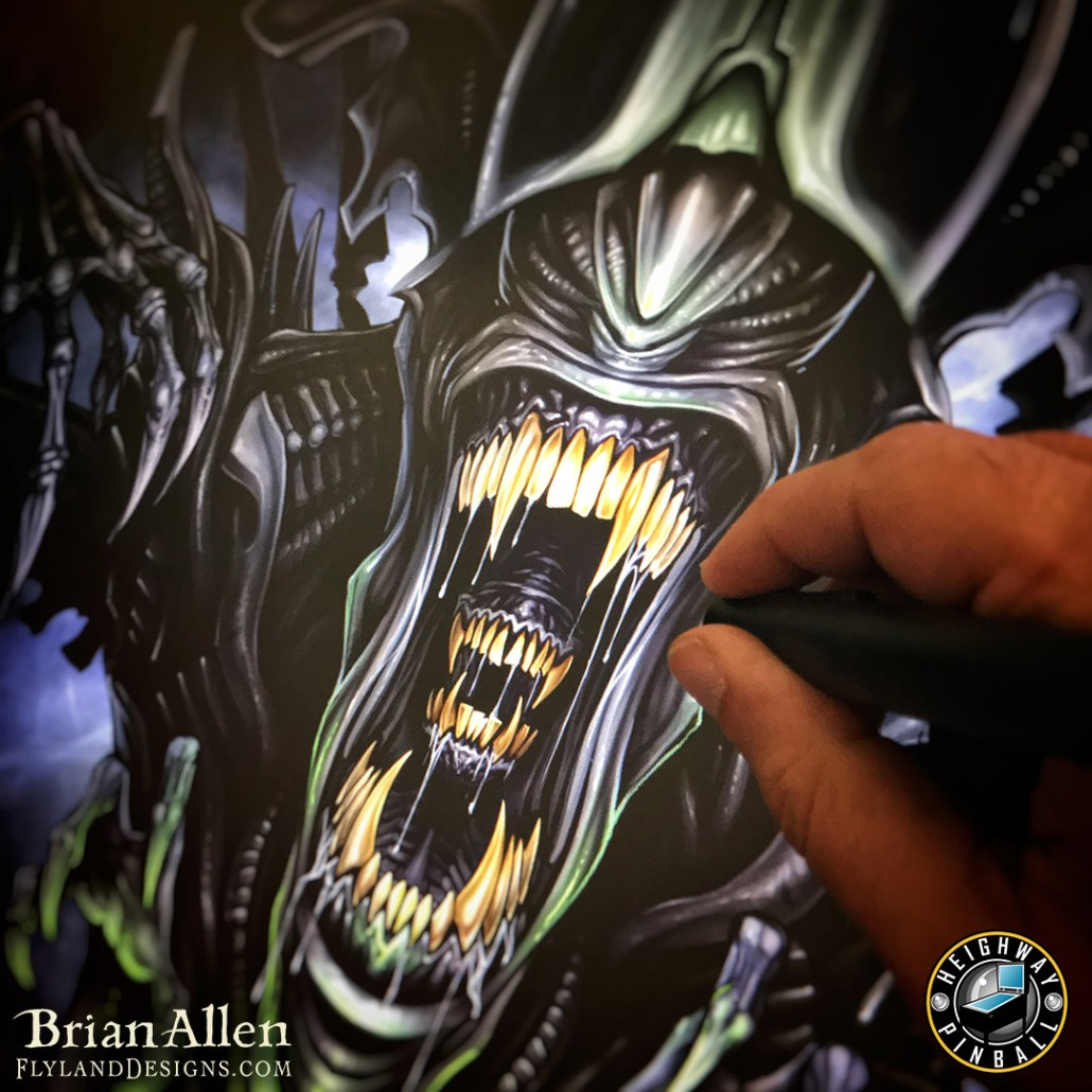 Official Alien pinball machine b