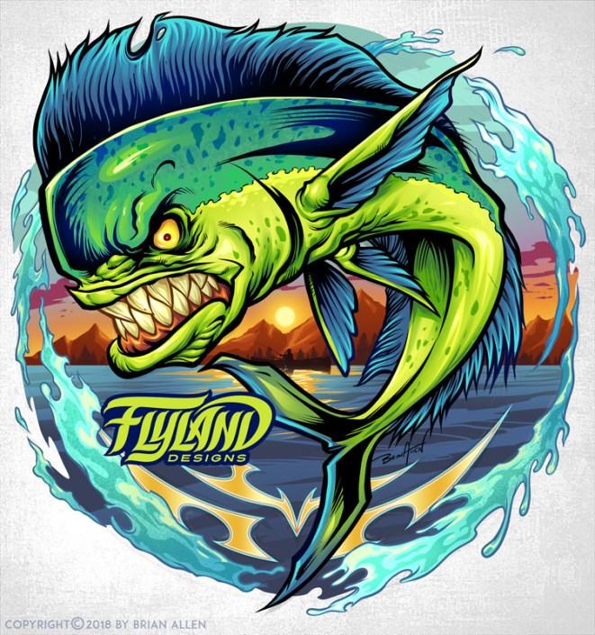 A colorful and angry mahi-mahi f