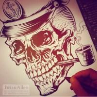 Tattoo shop custom logos of sail