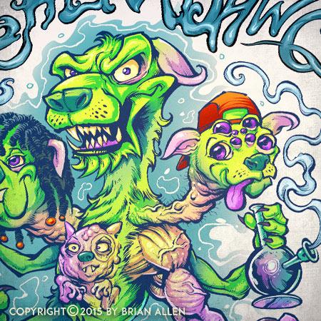 Sour patch kids illustration for Sour Diesel marijuana strain