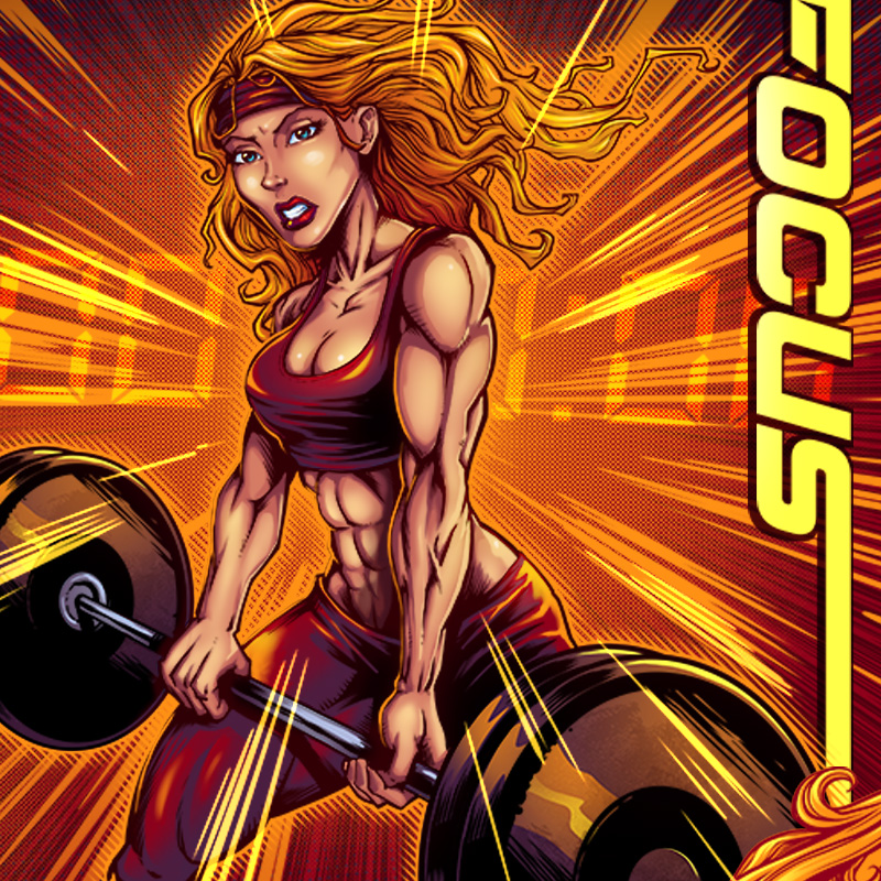 Crossfit Comic Book Yoga Pants