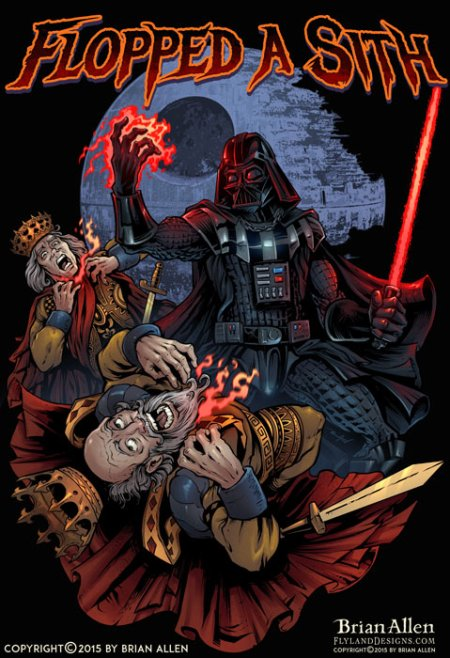 Darth Vader force-choking two po