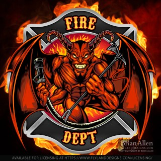 Fire Department patch design of
