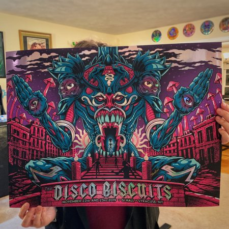 The Disco Biscuits Gig Poster Cr