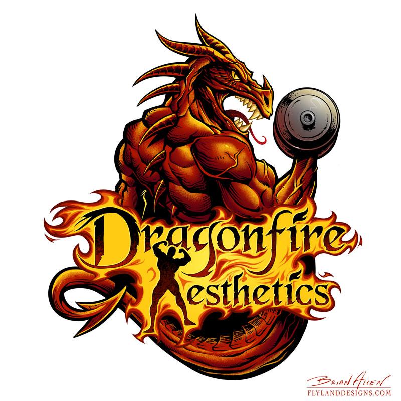 wieghtlifting dragon logo design flyland designs freelance rh flylanddesigns com