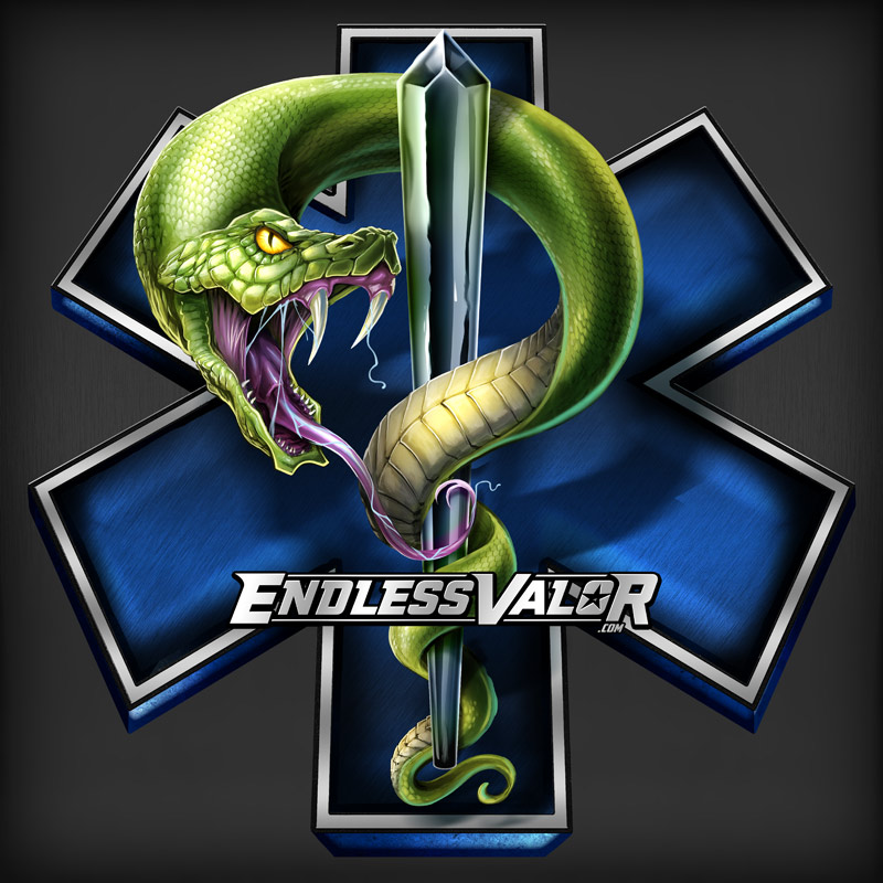 Classic EMS star of life logo wi