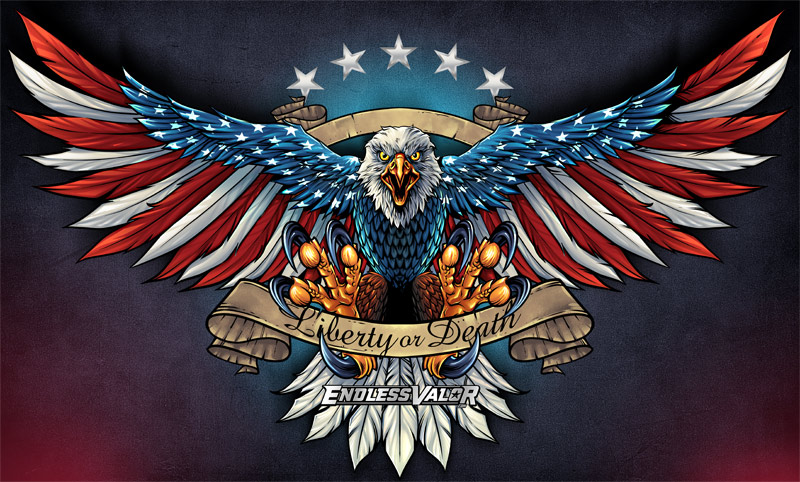 A bald eagle is covered in the A