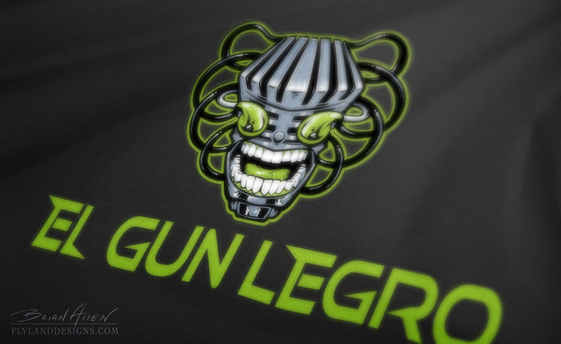 Logo Design for Nerdcore Rapper El Gun Legro